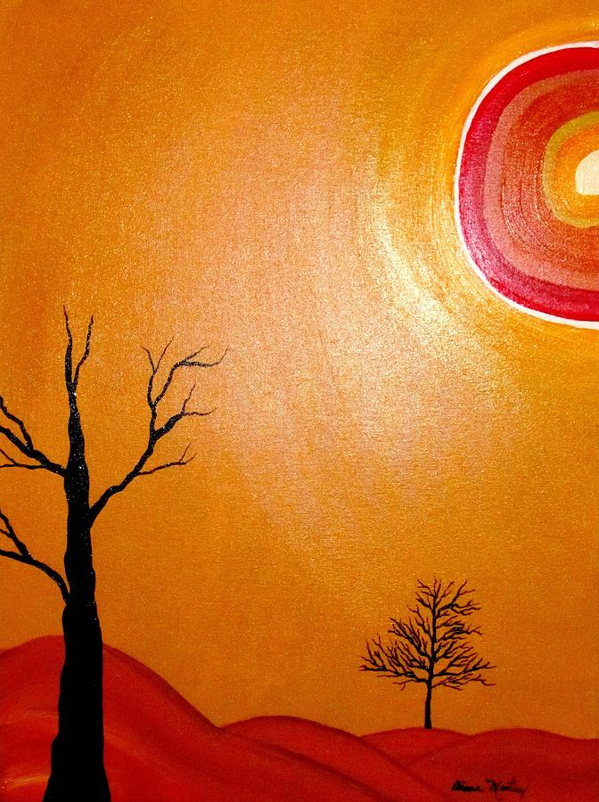 Landscape Painting - Desertica I by Diana Martinez