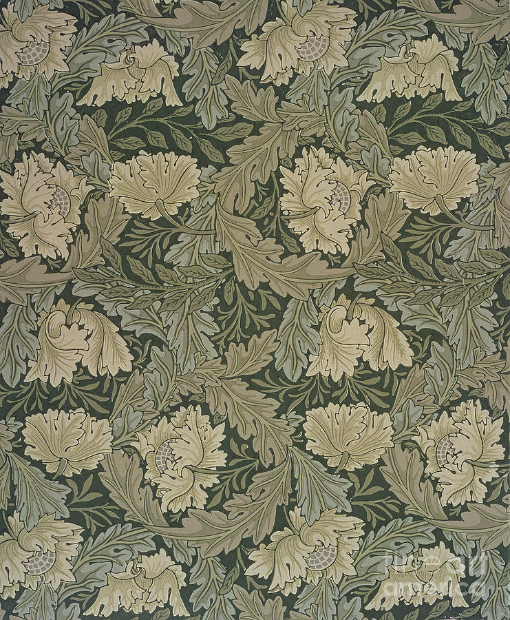Design For 'lea' Wallpaper Painting by William Morris