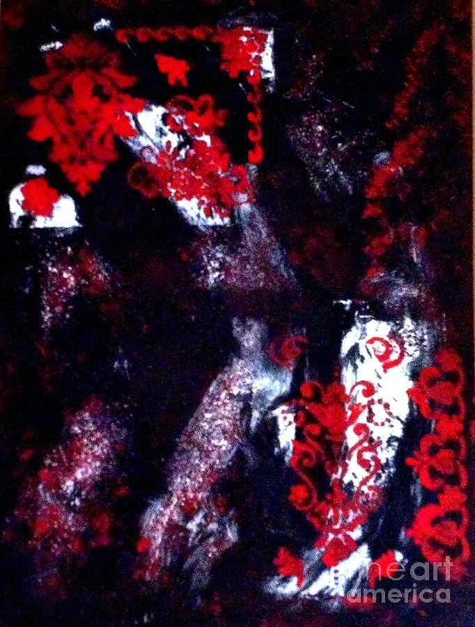 Red Painting - Design In Abstract by Deborah MacQuarrie-Haig