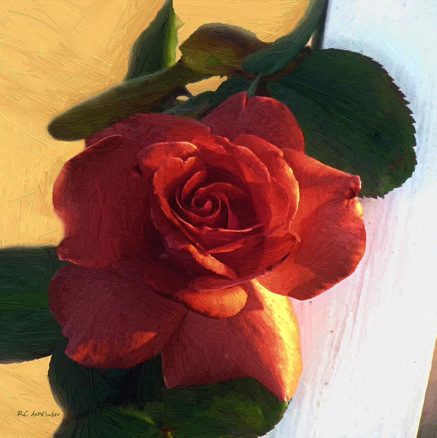 Floral Painting - Desire In Coral by RC DeWinter
