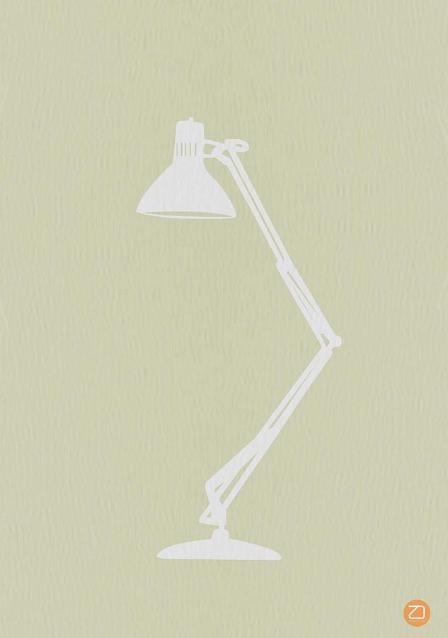 Lamp Digital Art - Desk Lamp by Naxart Studio
