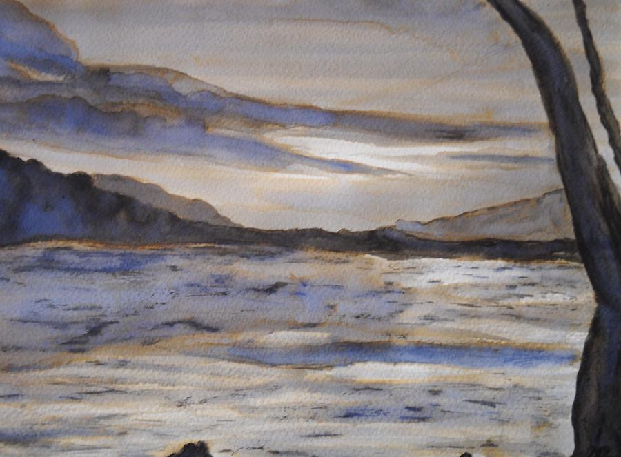 2 giclee fine art print of watercolor painting desolate no