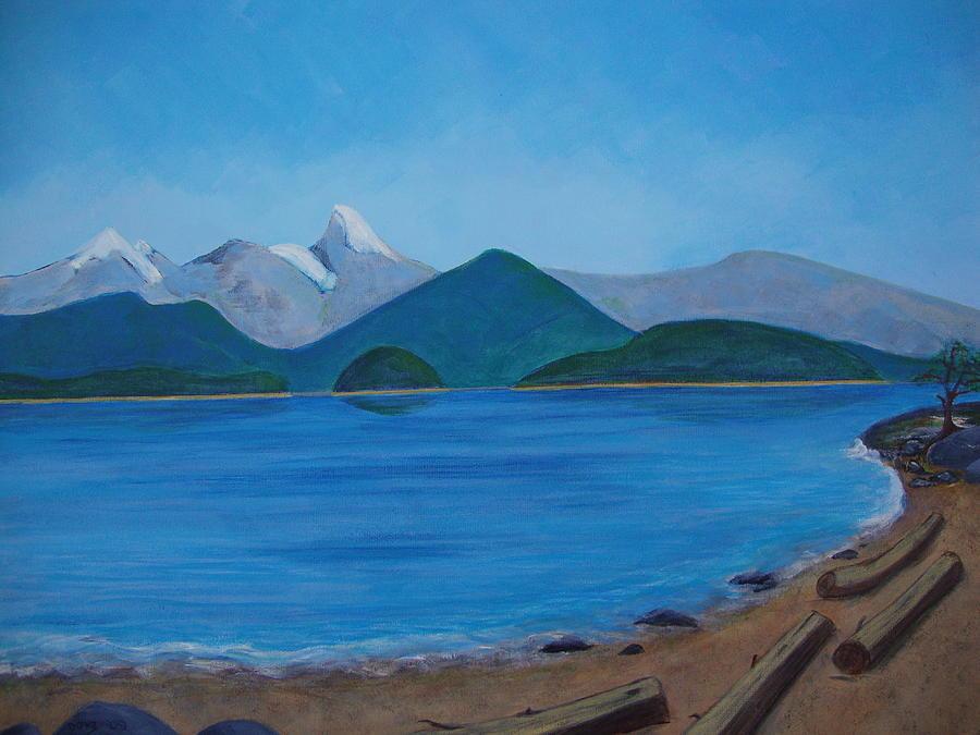 Mountains Painting - Desolation Sound by Donna Van Eeghen