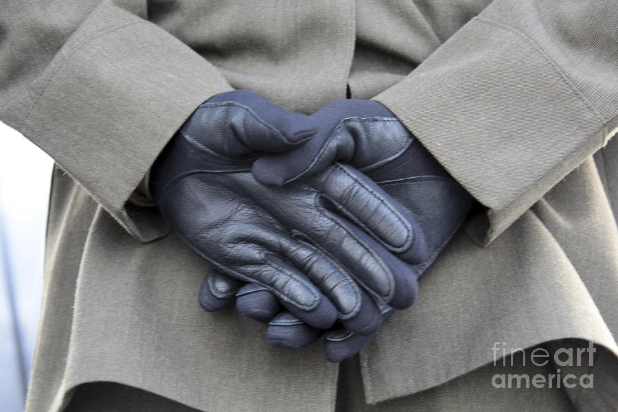 Hands Behind Back Photograph - Despite Light Rain And A Chilling by Stocktrek Images