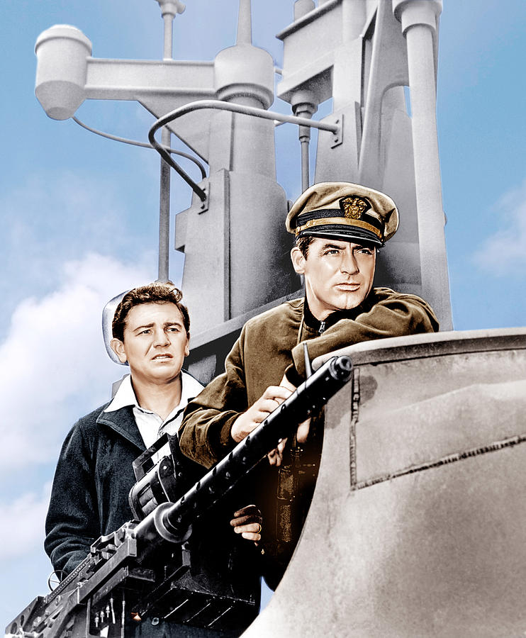 1940s Movies Photograph - Destination Tokyo, From Left John by Everett