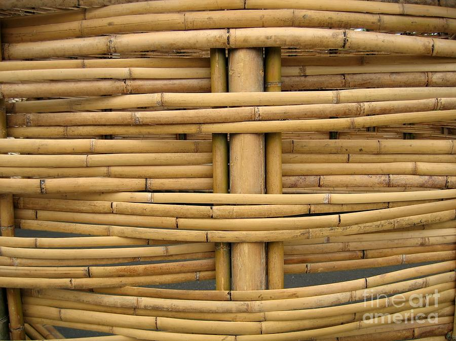 Detail Of Bamboo Construction Photograph By Yali Shi