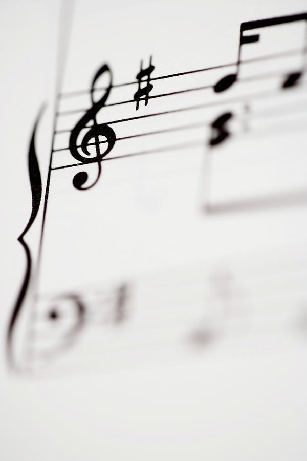 Vertical Photograph - Detail Of Sheet Music by Junior Gonzalez