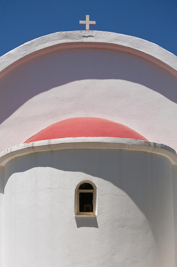 Architecture Photograph - Detail Of Small Church Between Limnes by Axiom Photographic