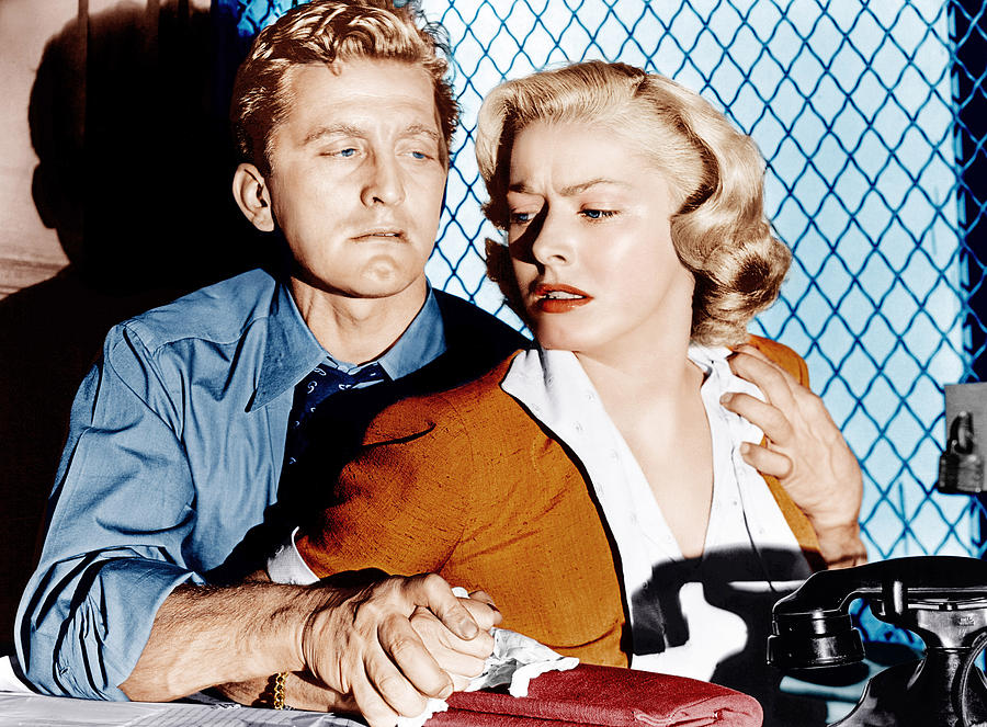 1950s Movies Photograph - Detective Story, From Left Kirk by Everett