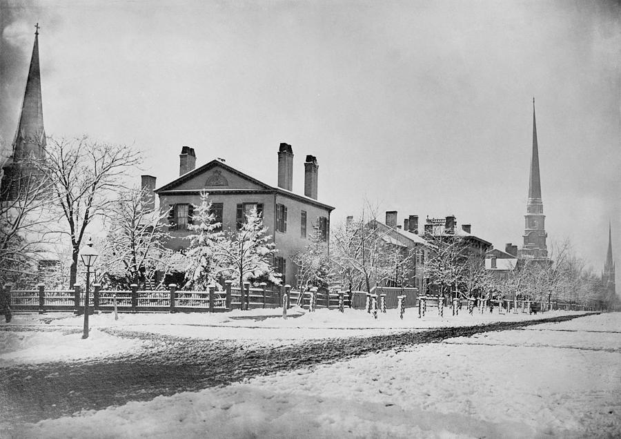 History Photograph - Detroit Michigan In 1870. South West by Everett