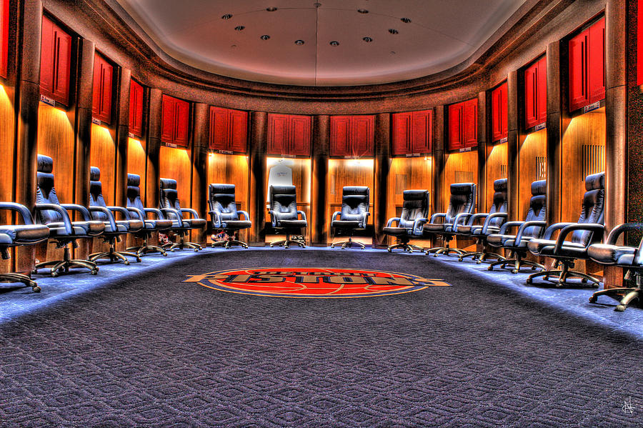 Detroit Pistons Locker Room Auburn Hills Mi Photograph By
