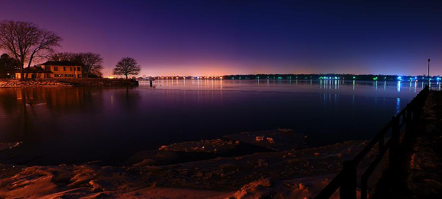 Detroit River Panorama Photograph