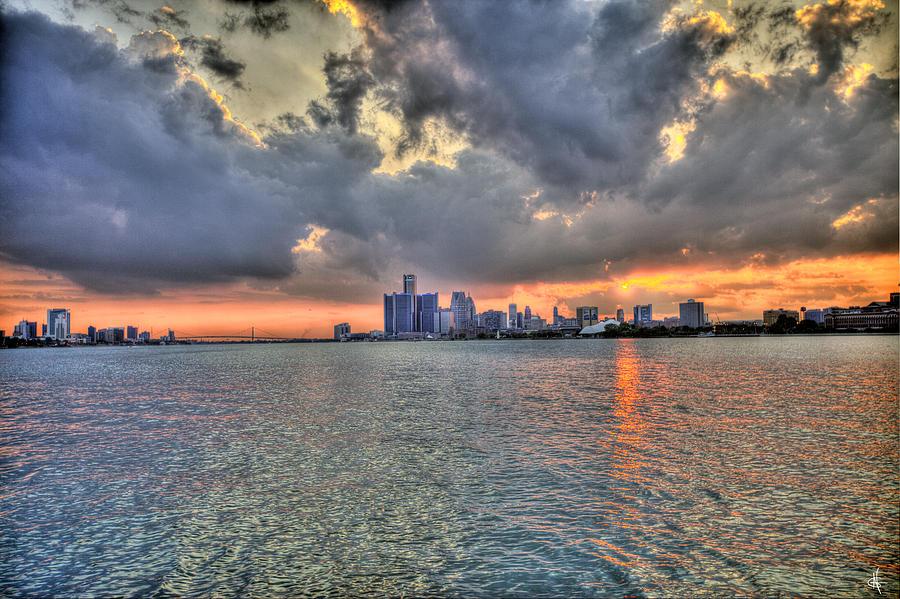 Sunset Photograph - Detroit Sunset  by Nicholas  Grunas