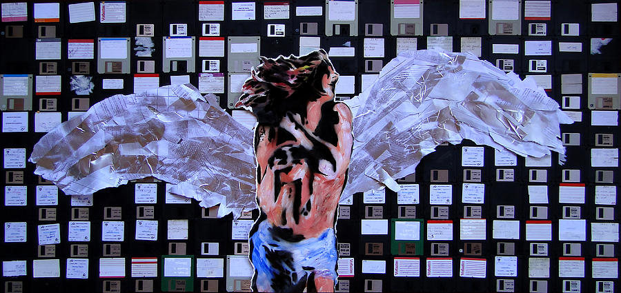 Angel Mixed Media - dEUS ex Machina by Roberto Macedo Alves