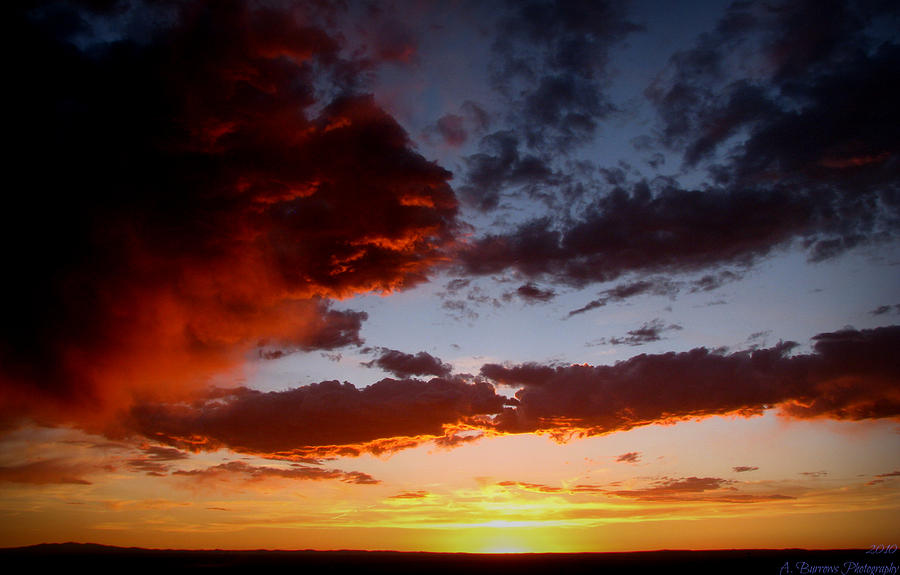 New Mexico Photograph - Developing Storm At Sunset by Aaron Burrows