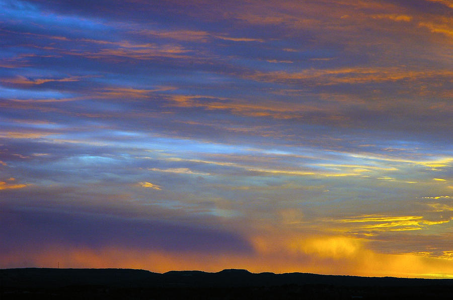 Sunset Photograph - Devils Backbone Sunset by Robert Anschutz