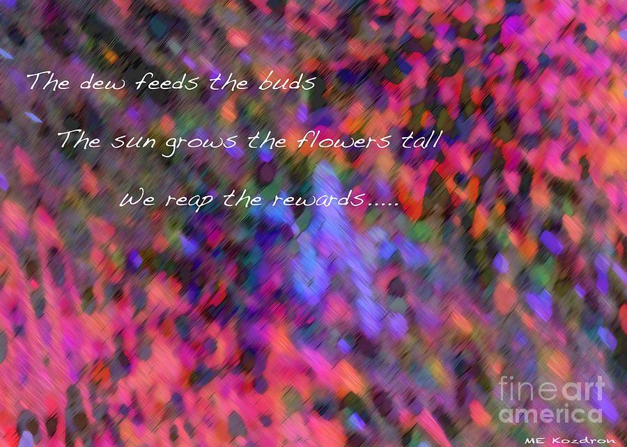 Abstract Digital Art - Dew Haiku by ME Kozdron