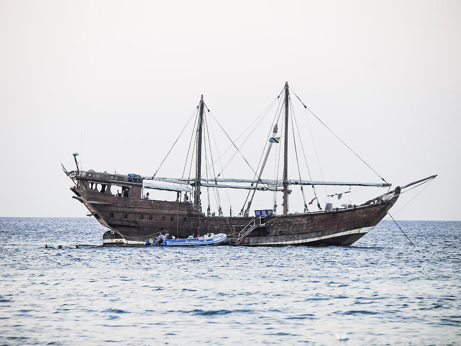 Adventure Photograph - Dhow Sailing Ship by Ralph Brannan