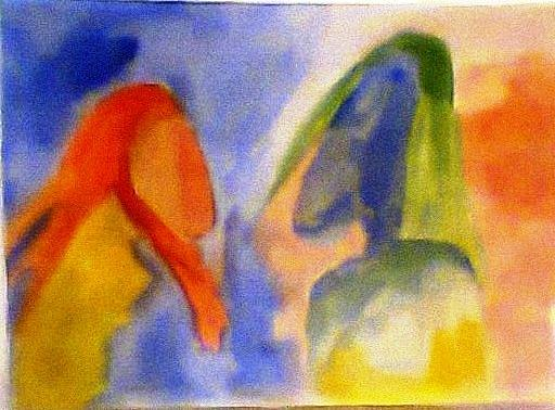 Dialogue 2 Painting by Rooma Mehra