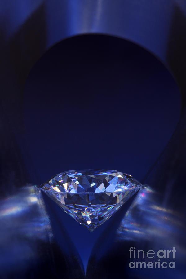 Abundance Jewelry - Diamond In Deep-blue Light by Atiketta Sangasaeng