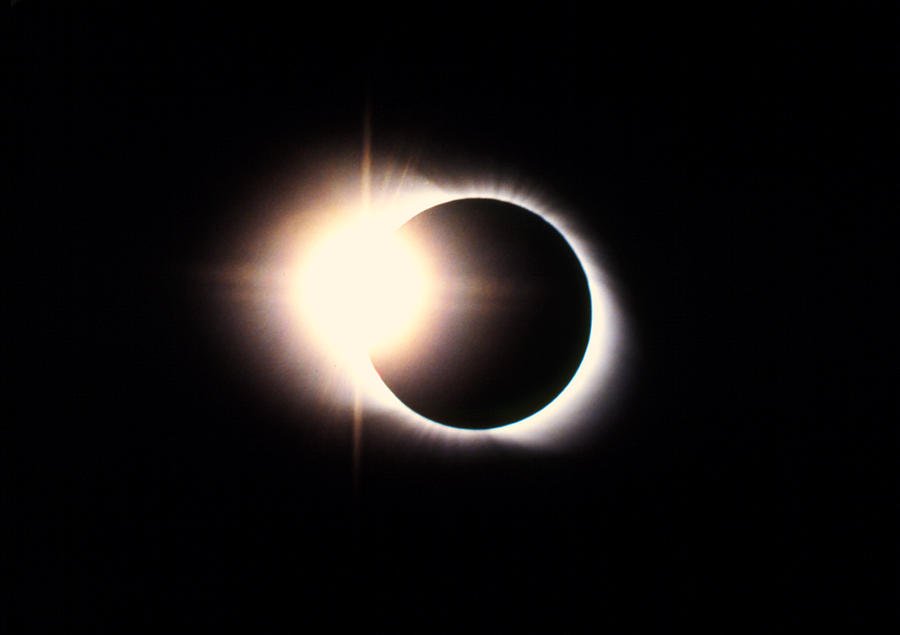 Eclipse Photograph - Diamond Ring Effect, Total Solar Eclipse by Rev. Ronald Royer