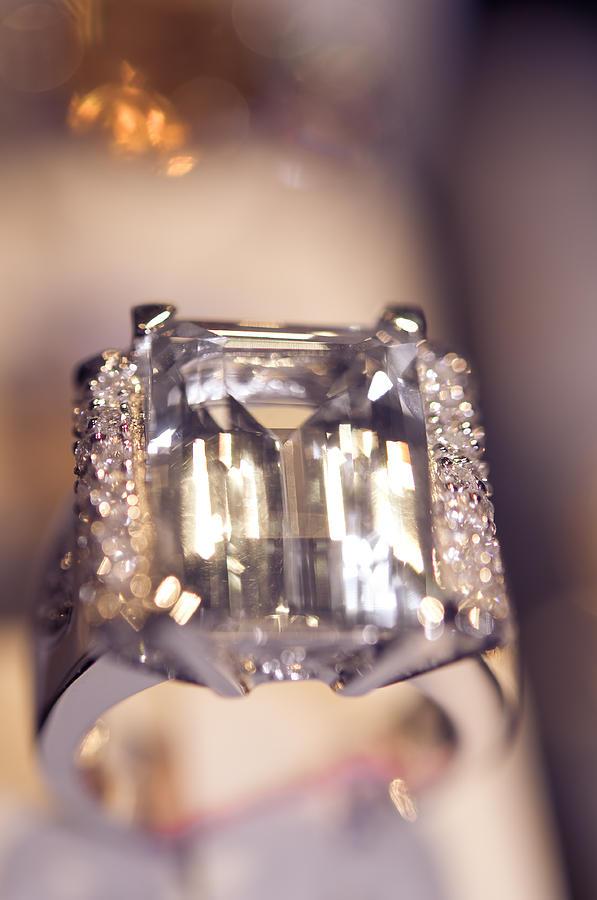 Ring Photograph - Diamond Ring. Spirit Of Treasure by Jenny Rainbow