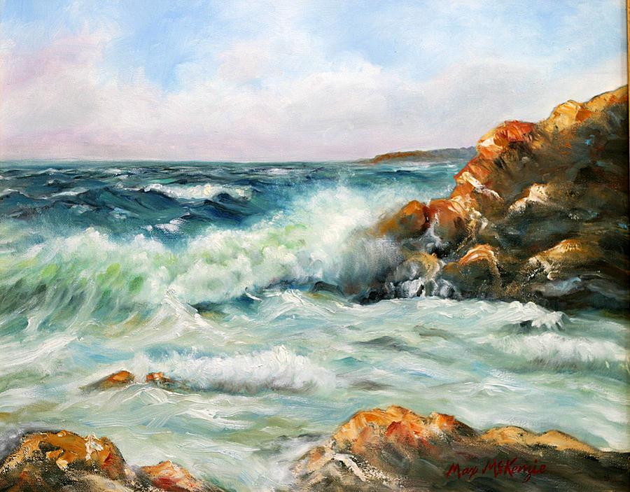 Ocean Painting - Dianes Cove by Max Mckenzie