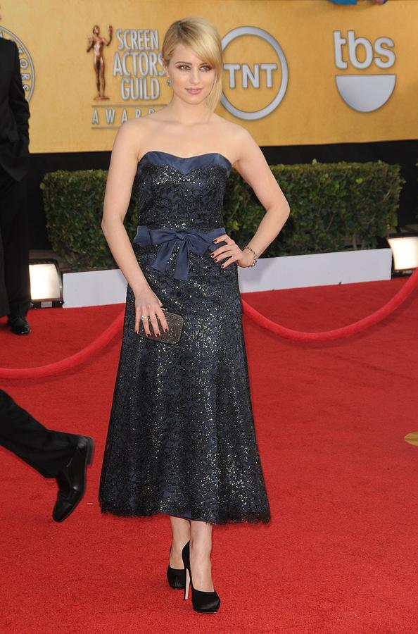 Dianna Agron Photograph - Dianna Agron Wearing A Chanel Dress by Everett