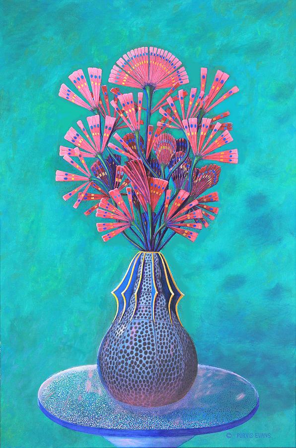 Diatom Painting - Diatoms by Purvis Evans