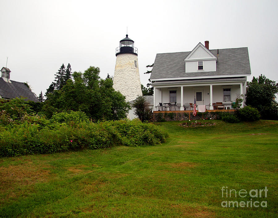 Castine Photograph - Dice Head Lighthouse by Brenda Giasson
