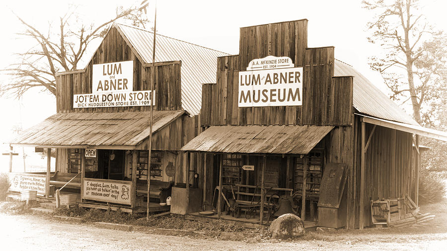 Dick Huddleston Store -ouachita Mountains Photograph - Dick Huddleston Store Est. 1909 by Douglas Barnard