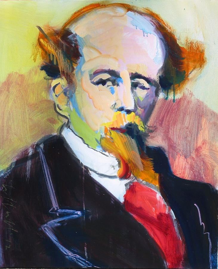 Portraits Painting - Dickens by Les Leffingwell
