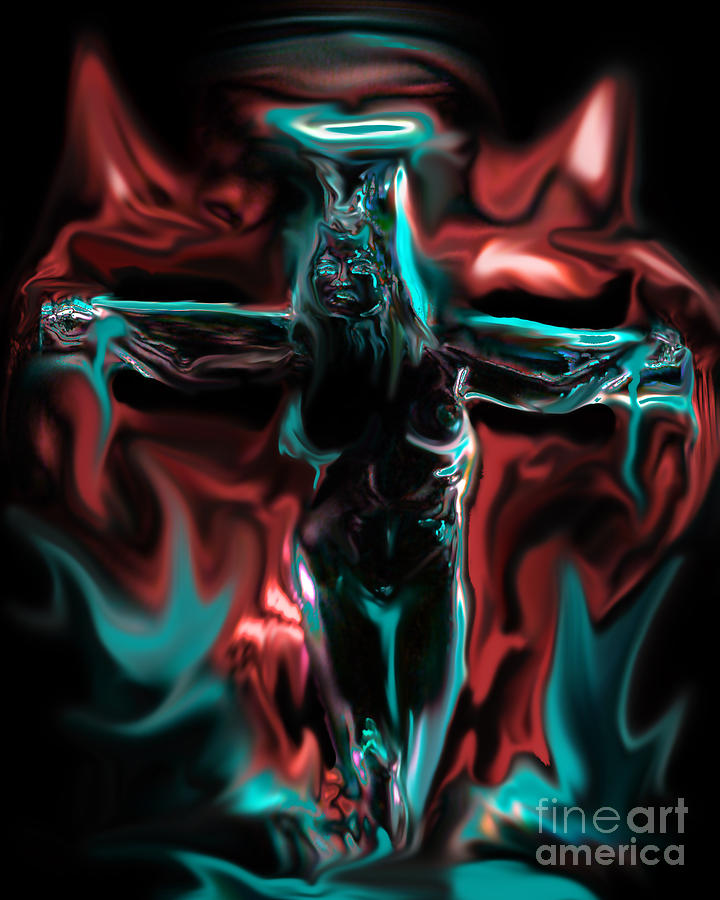 Religious Painting - Die 4 Your Sins by Tbone Oliver