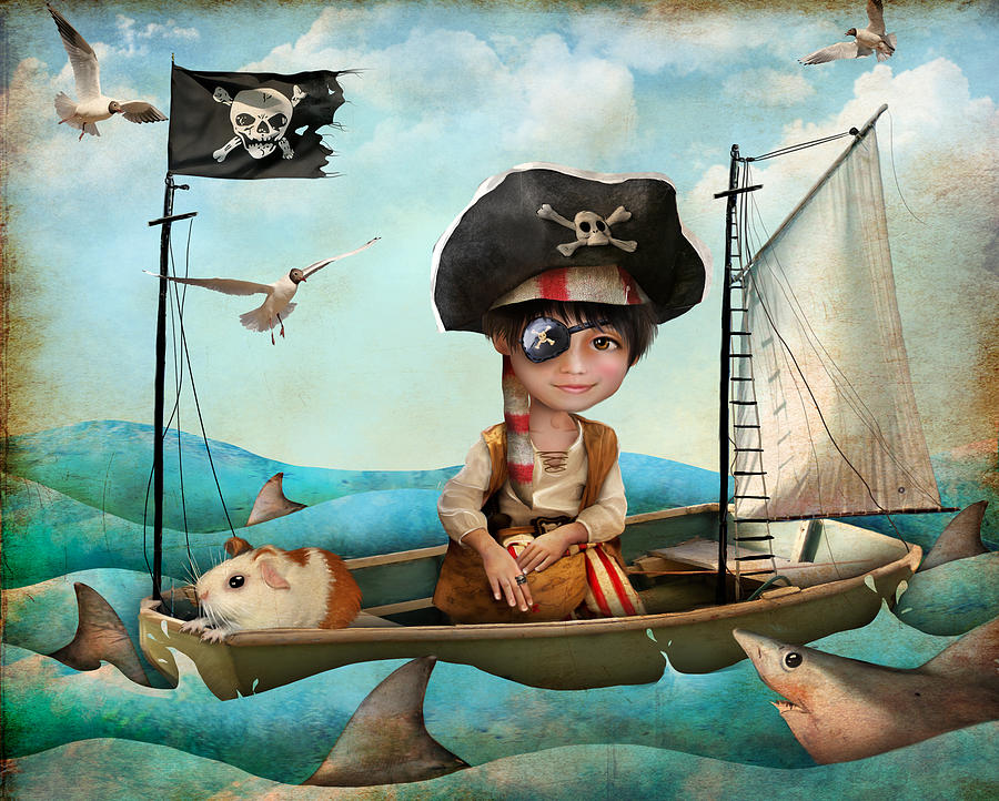 Pirate Digital Art - Diego by Jessica Von Braun