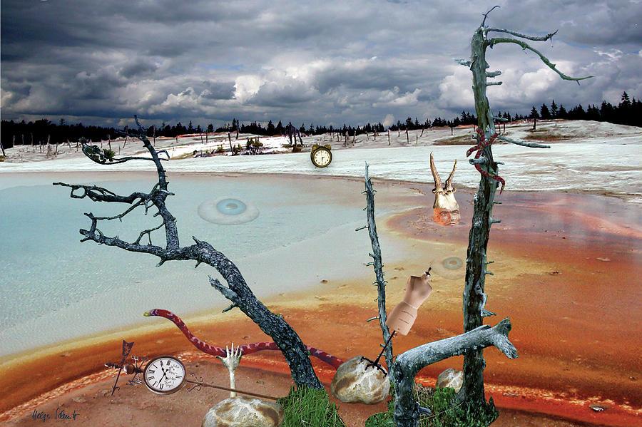 Surreal Landscape Digital Art - Diffuse Reflection by Helga Schmitt