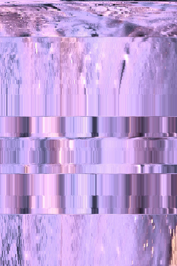 Abstract Digital Art - Digitized Purple by Colleen Cannon