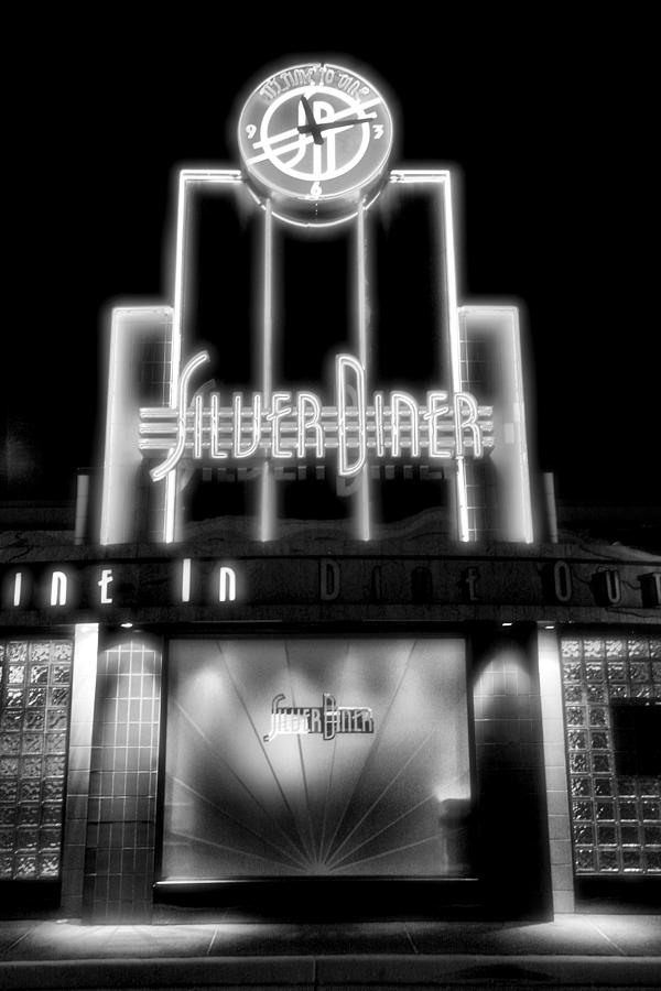 Diner Photograph - Diner At Night by Steven Ainsworth
