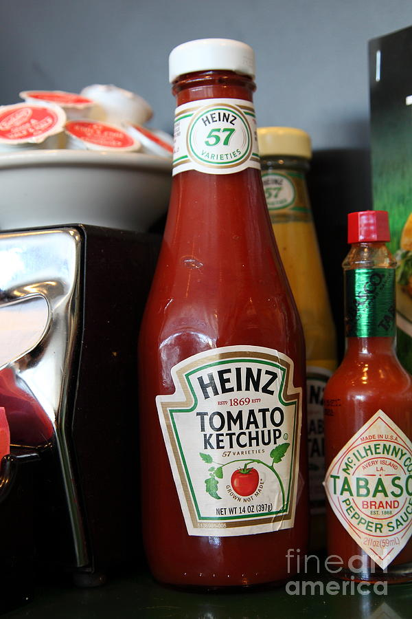 Heinz Tomato Ketchup Photograph - Diner Table Condiments And Other Items - 5d18038 by Wingsdomain Art and Photography
