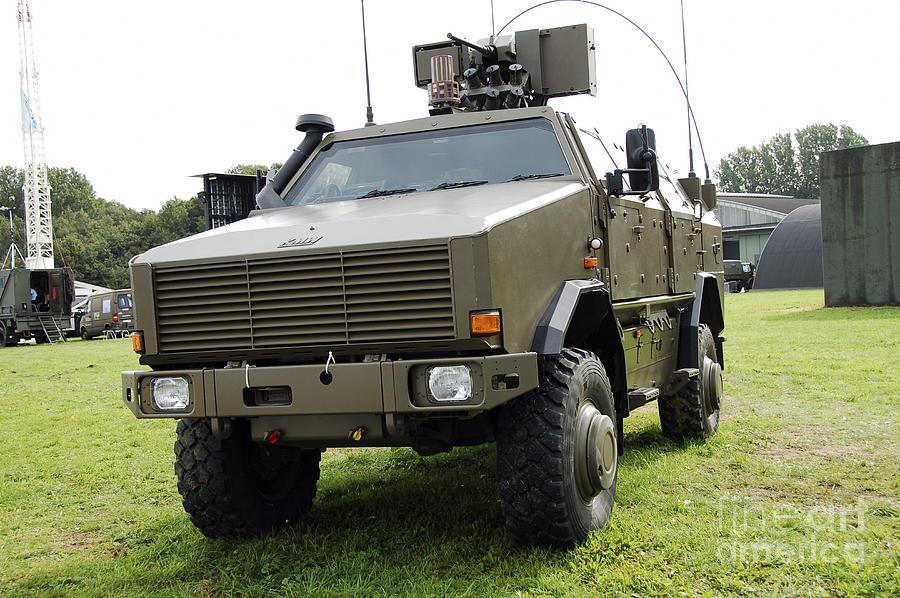 Armament Photograph - Dingo II Vehicle Of The Belgian Army by Luc De Jaeger