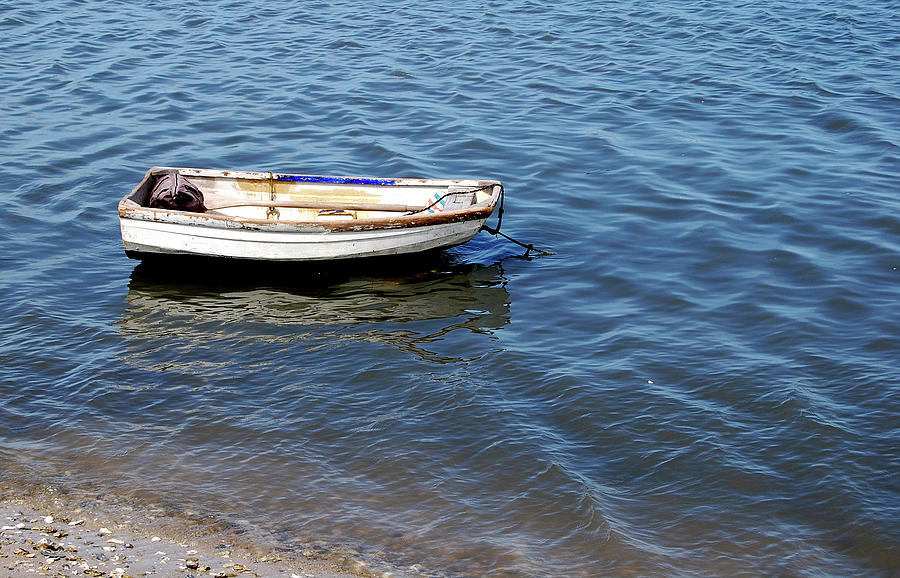 Dingy Photograph - Dingy In St Augustine Bay by Jim and Kim Shivers