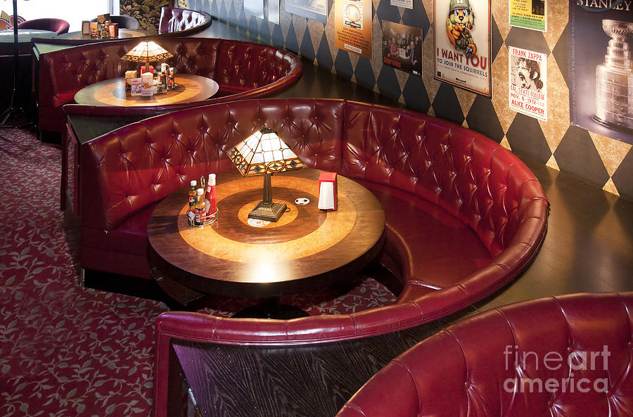 American Style Photograph   Dining Booth In An American Style Diner By Jaak  Nilson