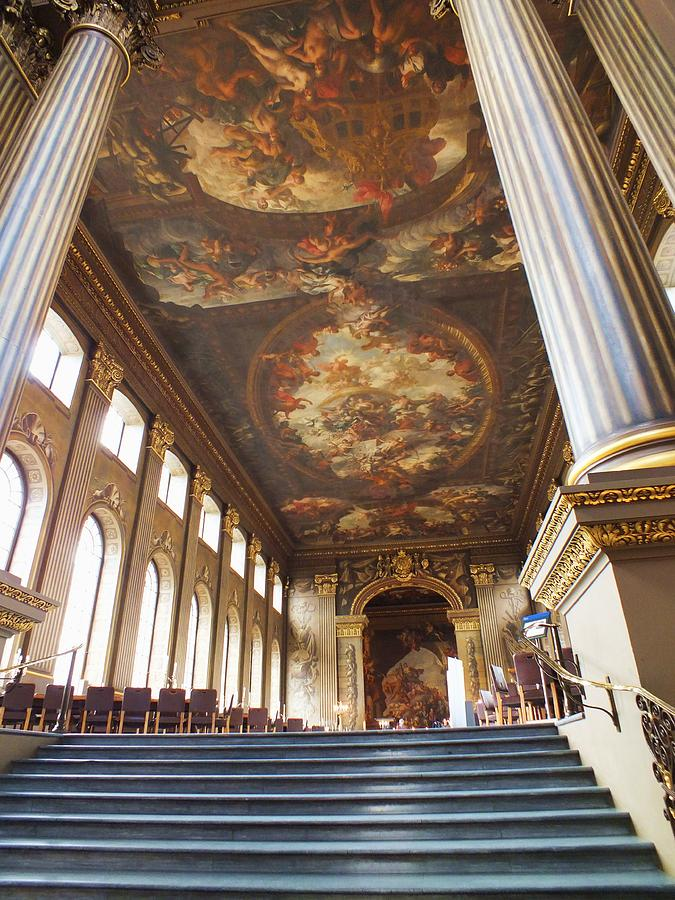Greenwich Photograph - Dining Hall At Royal Naval College by Anna Villarreal Garbis