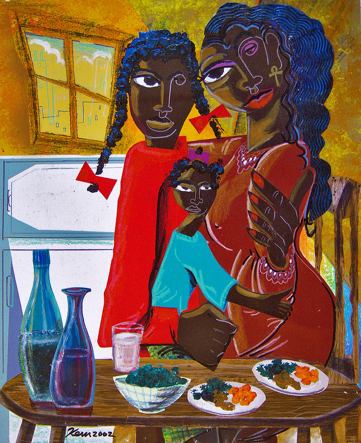 Dinner With Mom Painting by Kevin McDowell