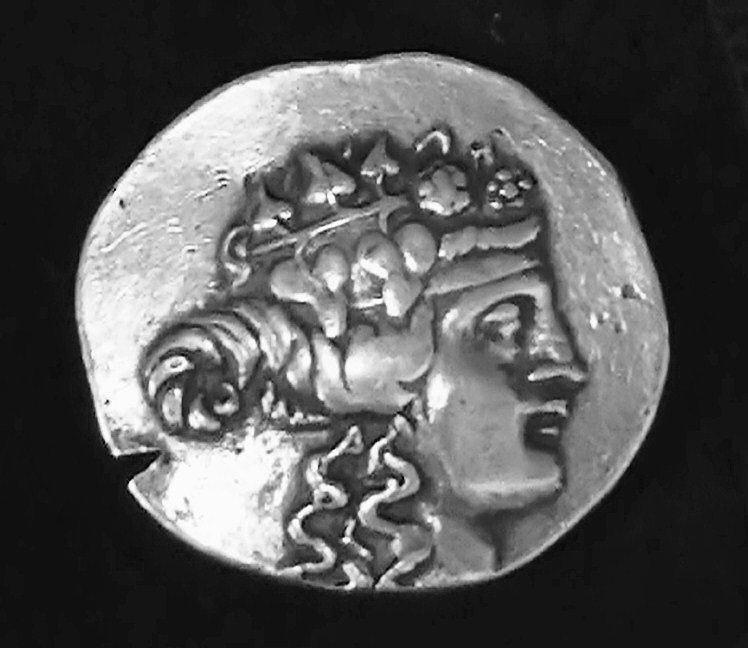 Ancient Greek Coin Relief - Dionysus by Unknown