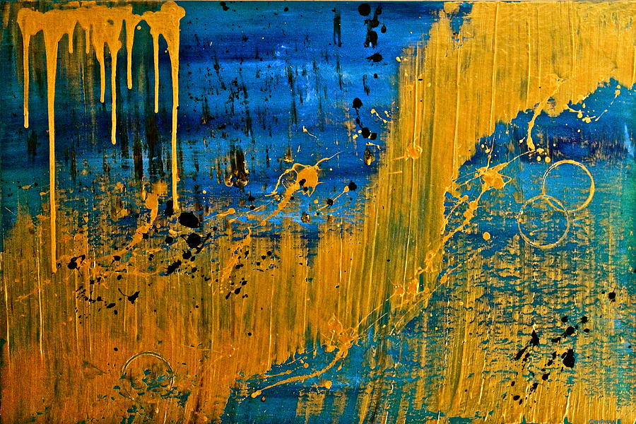 Original Painting - Dipped In Gold by Eric Chapman