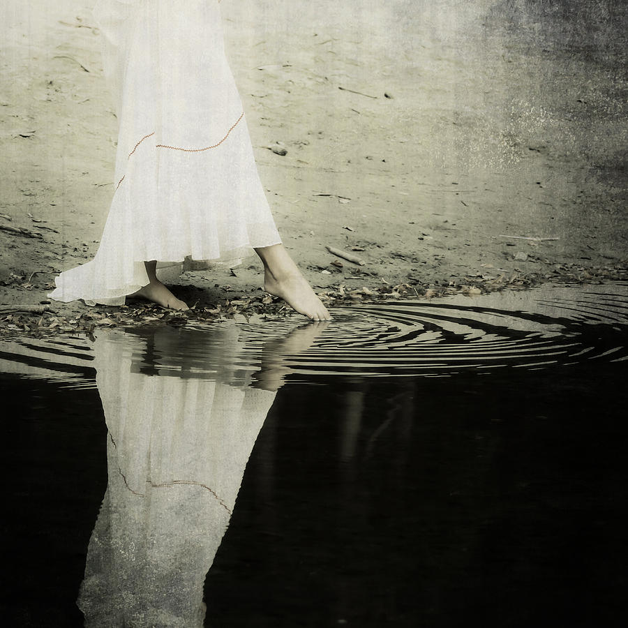 Female Photograph - Dipping The Foot by Joana Kruse