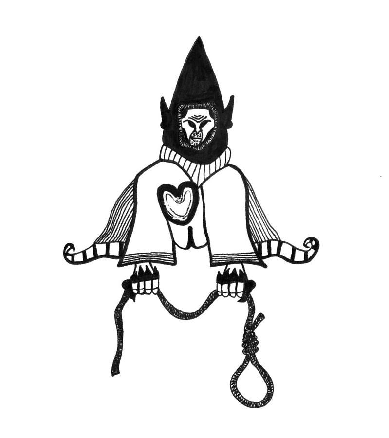 Surreal Drawing - Dirty Evil Black Thumbs by Richard Lloyd