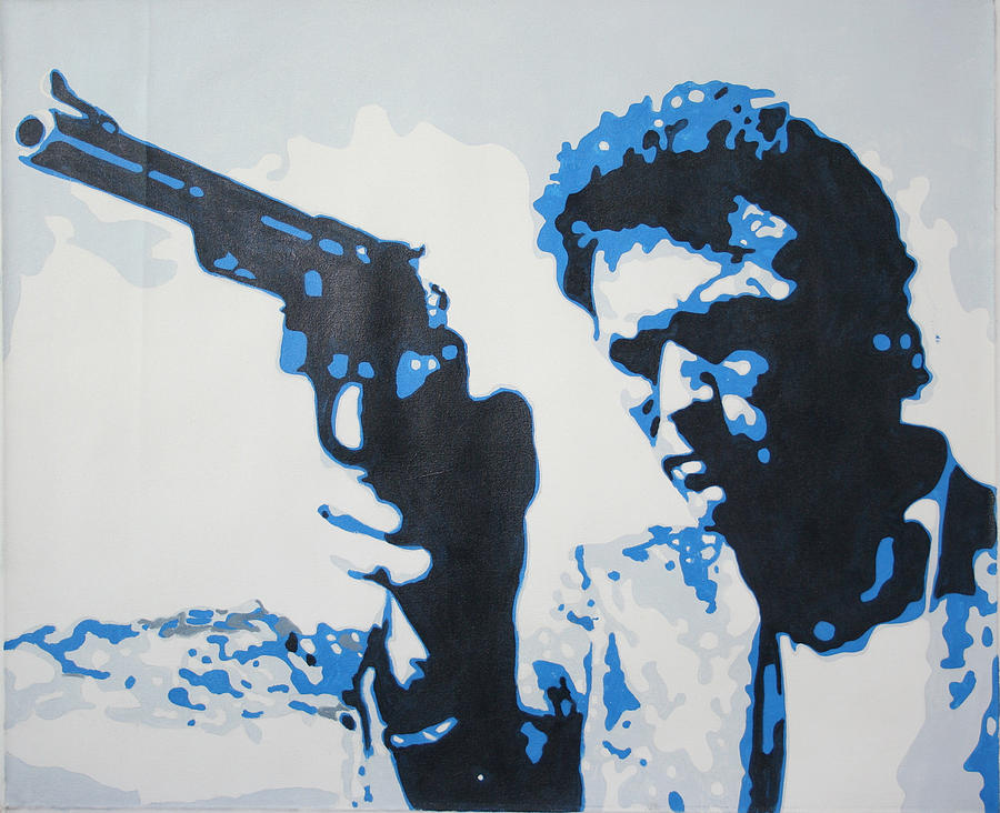 Dirty Harry Painting - Dirty Harry by Luis Ludzska