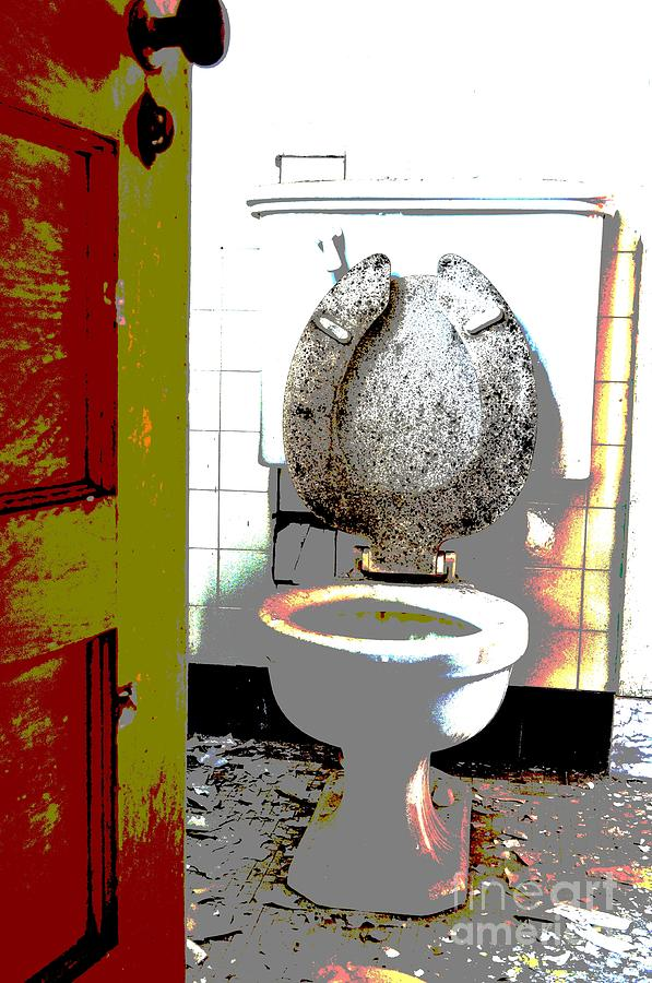 Toilet Photograph - Dirty Seat by Luke Moore