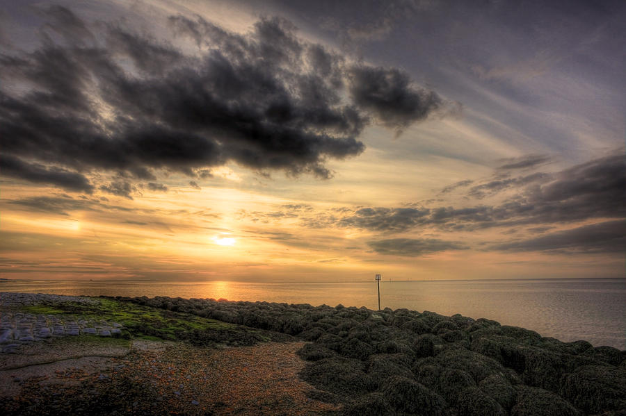 Reculver Photograph - Dirty Sunset by Lee-Anne Rafferty-Evans